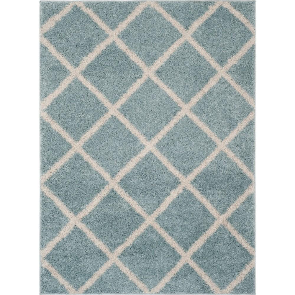 8'X10' Geometric Loomed Area Rug Blue/Ivory - Safavieh