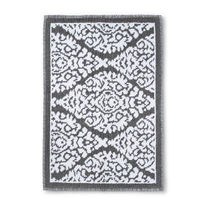 Floral Bath Mat Accent Classic Gray - Threshold™