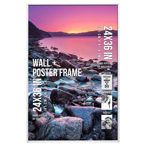 "Poster Frame Thin Profile - White - (24""x36"") - image 1 of 4"