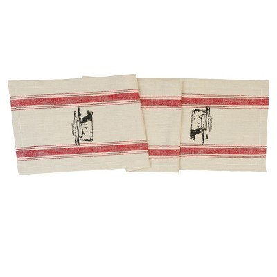 """C&F Home 13"""" x 72"""" Cow Feed Sack Table Runner"""