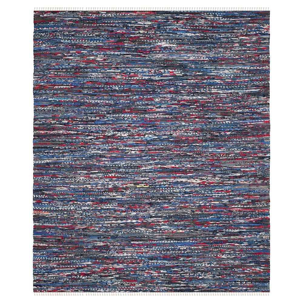 Blue/Multi Solid Woven Area Rug - (8'x10') - Safavieh, Blue/Multi-Colored