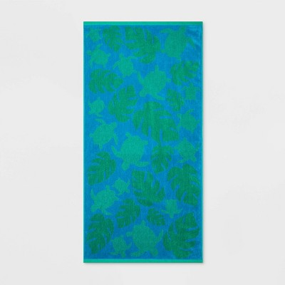 Sea Turtles Beach Towel XL Blue - Sun Squad™