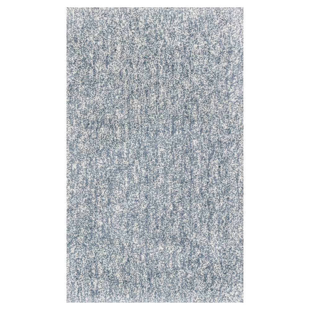 Gray Solid Woven Area Rug 5'x7' - Kas Rugs