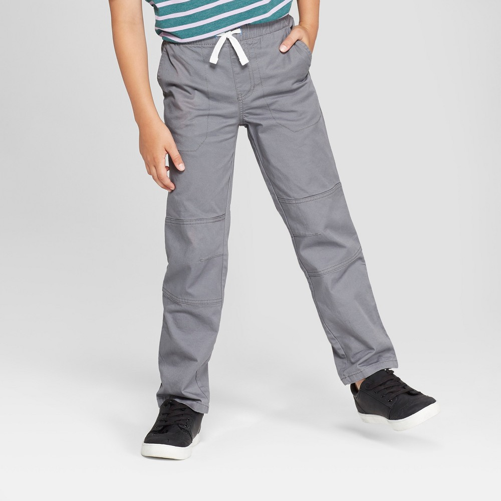 Boys' Pull-On Pants - Cat & Jack Medium Gray 16