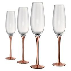 Artland Coppertino 8oz 4pk Champagne Flutes Copper