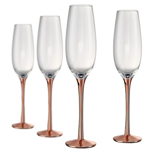 Artland Coppertino 8oz 4pk Champagne Flutes Copper - image 1 of 1
