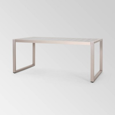 "Navan Rectangle Aluminum 70"" Dining Table - Christopher Knight Home"