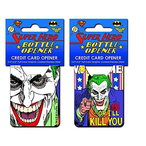 "Adventure Trading Inc DC Comics Joker ""Vote Me"" Credit Card Bottle Opener - image 1 of 1"