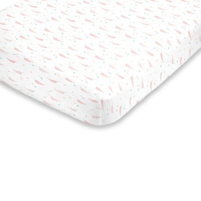 NoJo Super Soft Narwhal Fitted Crib Sheet