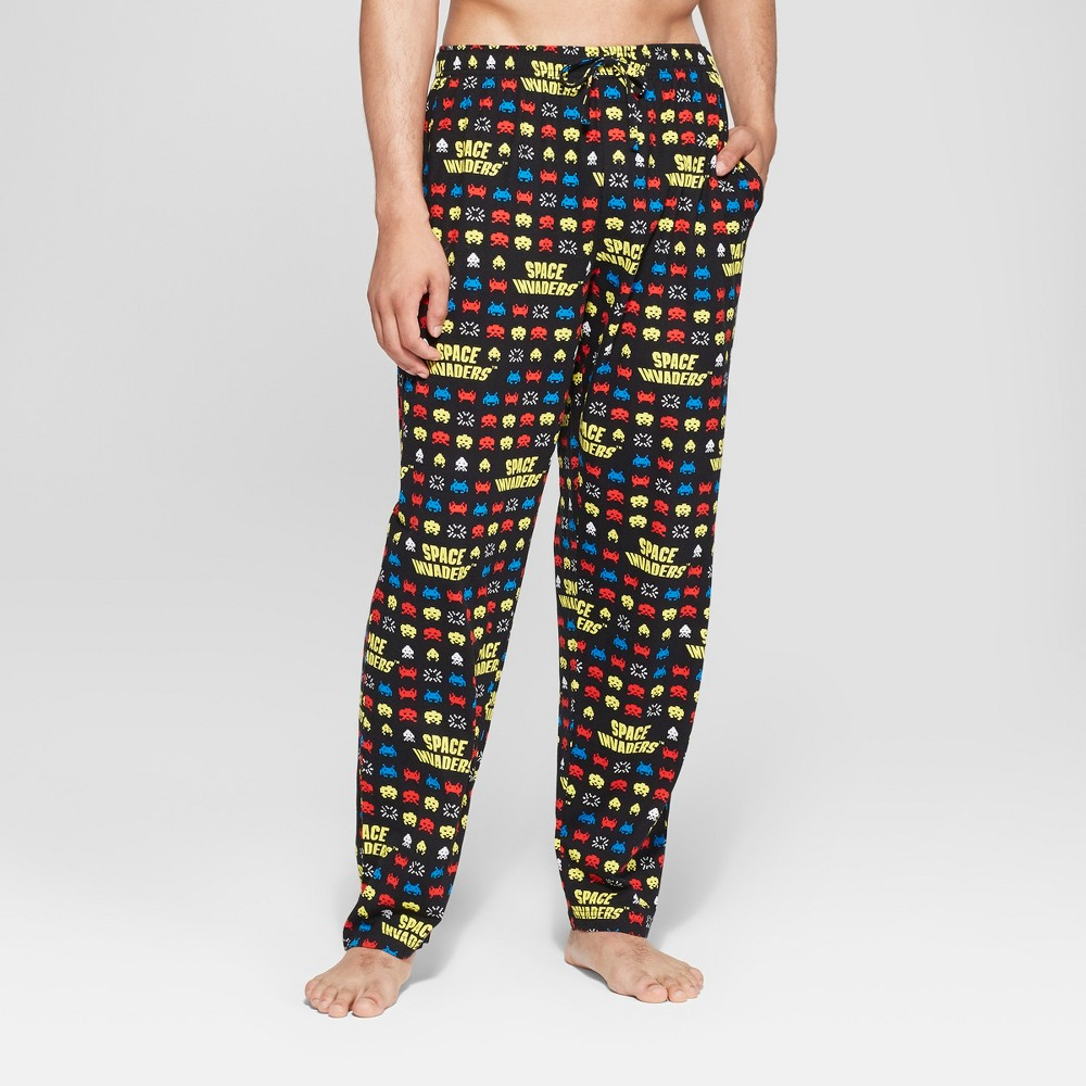 Image of Men's Space Invaders Pajama Pants - Black S, Size: Small