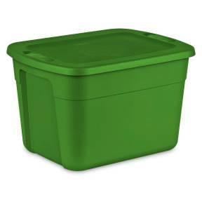 Sterilite 18gal Non Latching Tote Green