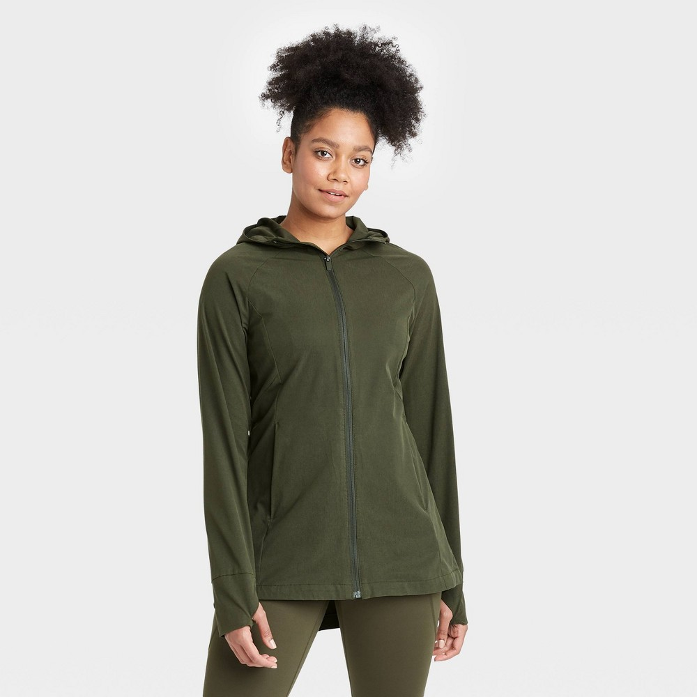 Women 39 S Anorak Jacket All In Motion 8482 Green Olive Xs
