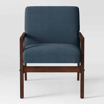 Peoria Wood Arm Chair Blue   Project 62™