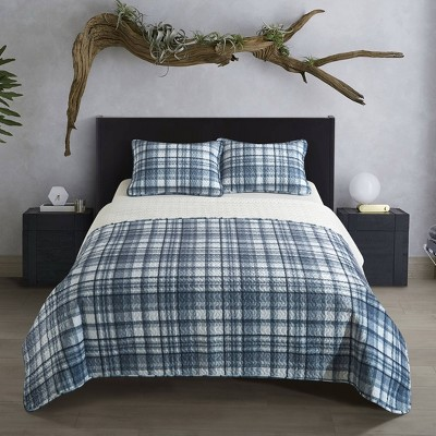 Dearfoams Stone Lane Quilt Set with Micromink Reverse
