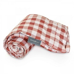 Eddie Bauer Buffalo Check Packable PrimaLoft Throw 50x60 Red