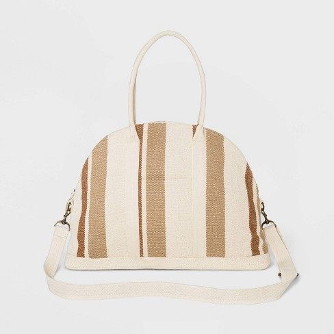Striped Canvas Weekender Bag - Universal Thread™ - image 1 of 3