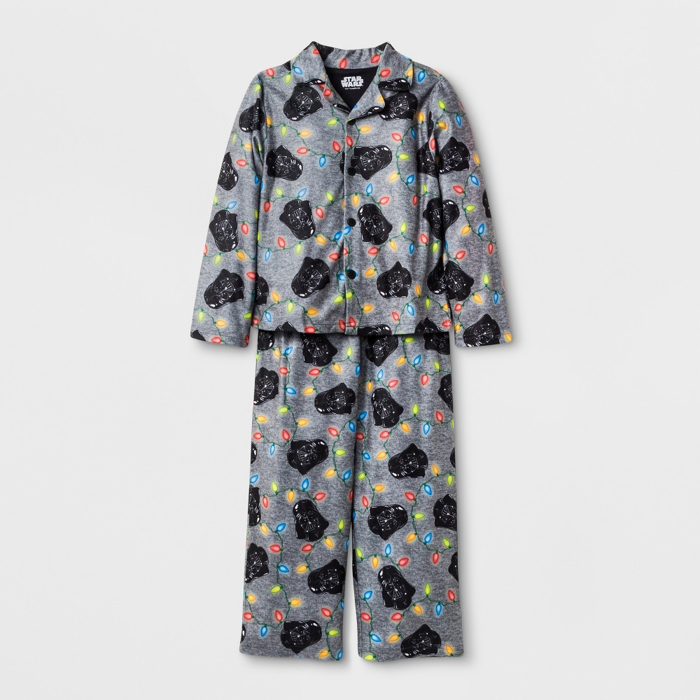 Boys' Star Wars Darth Vader 2pc Pajama Set - Gray 8