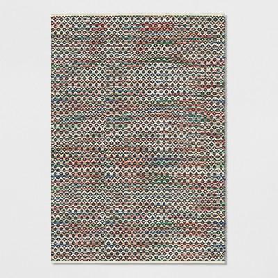 7'X10' Striped Diamond Woven Area Rug Blue - Opalhouse™