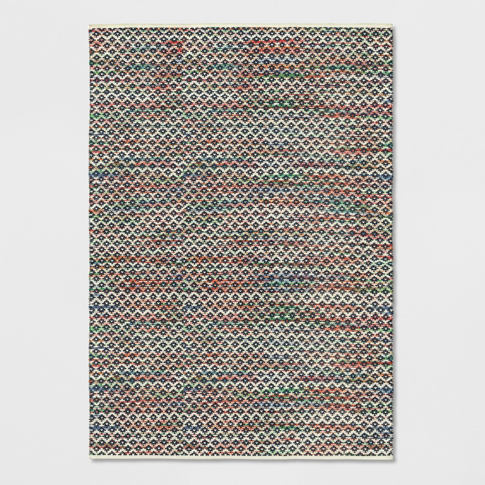 7'X10' Striped Diamond Woven Area Rug Blue - Opalhouse was $199.99 now $99.99 (50.0% off)