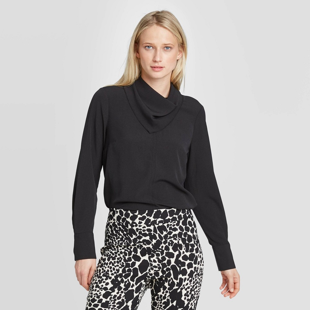 Women's Long Sleeve Scarf Blouse - Who What Wear Black XS was $27.99 now $19.59 (30.0% off)