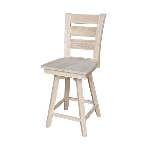 """24"""" Tuscany Counter height Stool - Unfinished - International Concepts - image 1 of 4"""