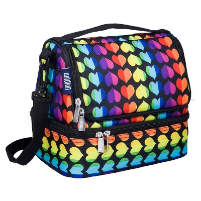 Wildkin Rainbow Hearts Two Compartment Lunch Bag