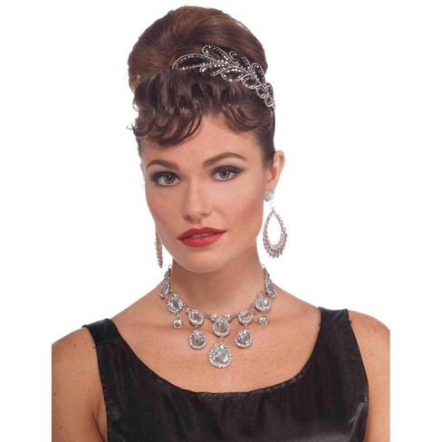 Forum Novelties Vintage Hollywood Rhinestone Movie Star Costume Necklace - image 1 of 1