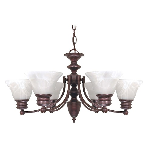 Aurora Lighting 6 Light Old Chandelier Bronze - image 1 of 1