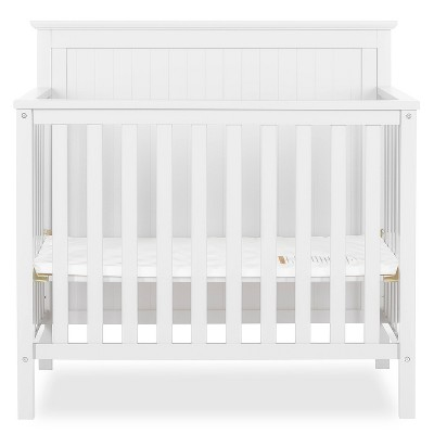 Dream On Me Jasmin 4-in-1 Convertible Mini Crib - White