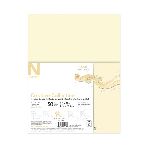50ct Premium Cardstock 65lb Off White Creative Collection Target
