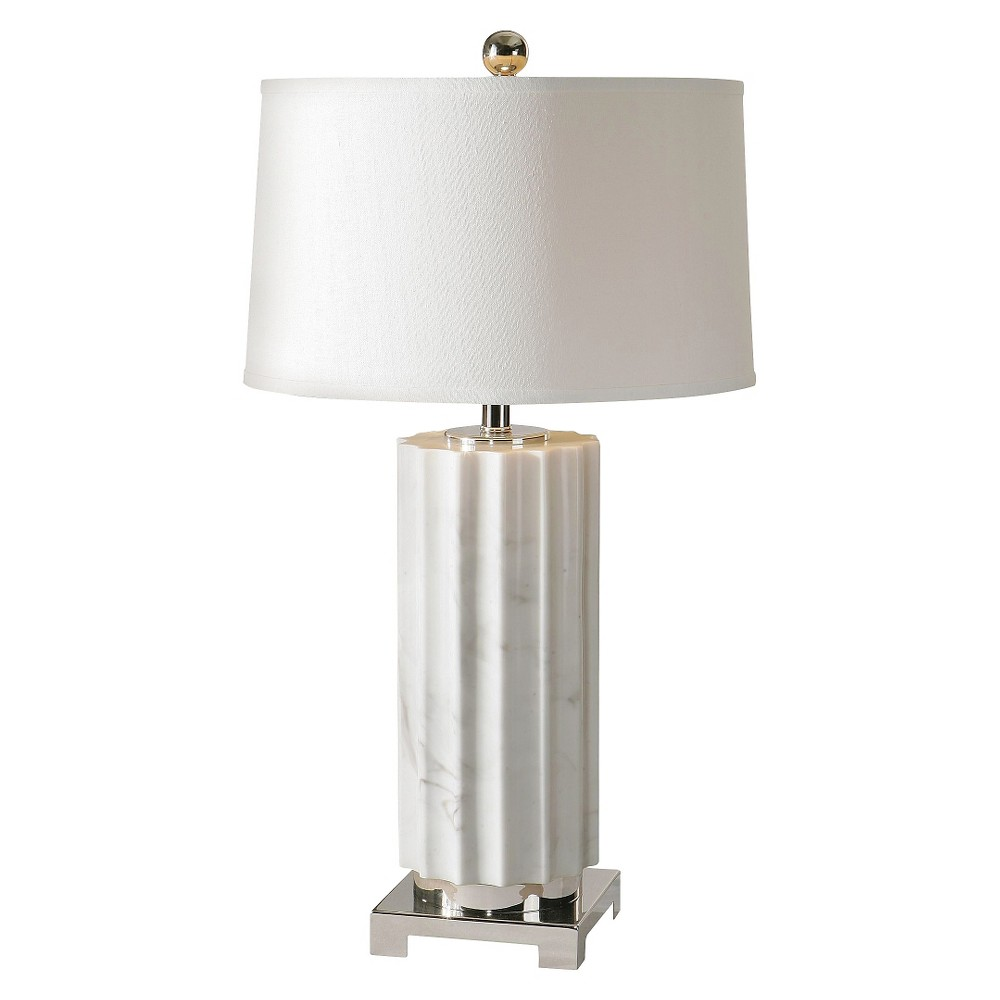 Uttermost Castorano Lamp (Lamp Only) - Marble/White
