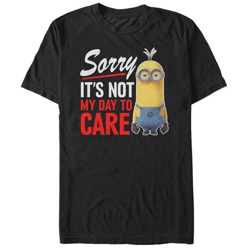 Men's Despicable Me Minion Not Day to Care T-Shirt - image 1 of 1