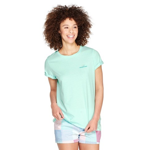 e78d7ebe4 Women's Short Sleeve Everyday Should Feel This Good Graphic Crewneck T-Shirt  - Mint - Vineyard Vines® For Target : Target