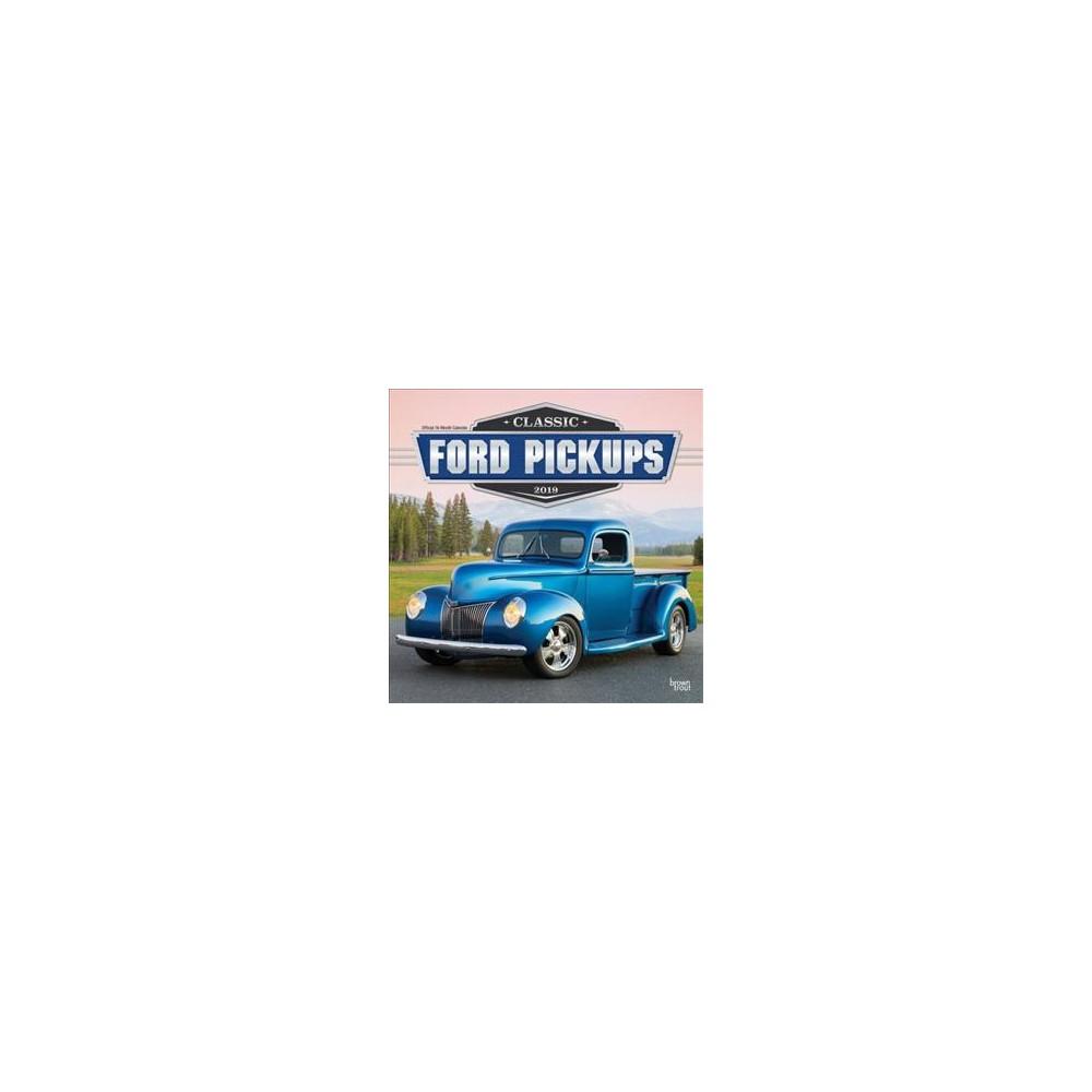 Classic Ford Pickups 2019 Calendar - (Paperback)