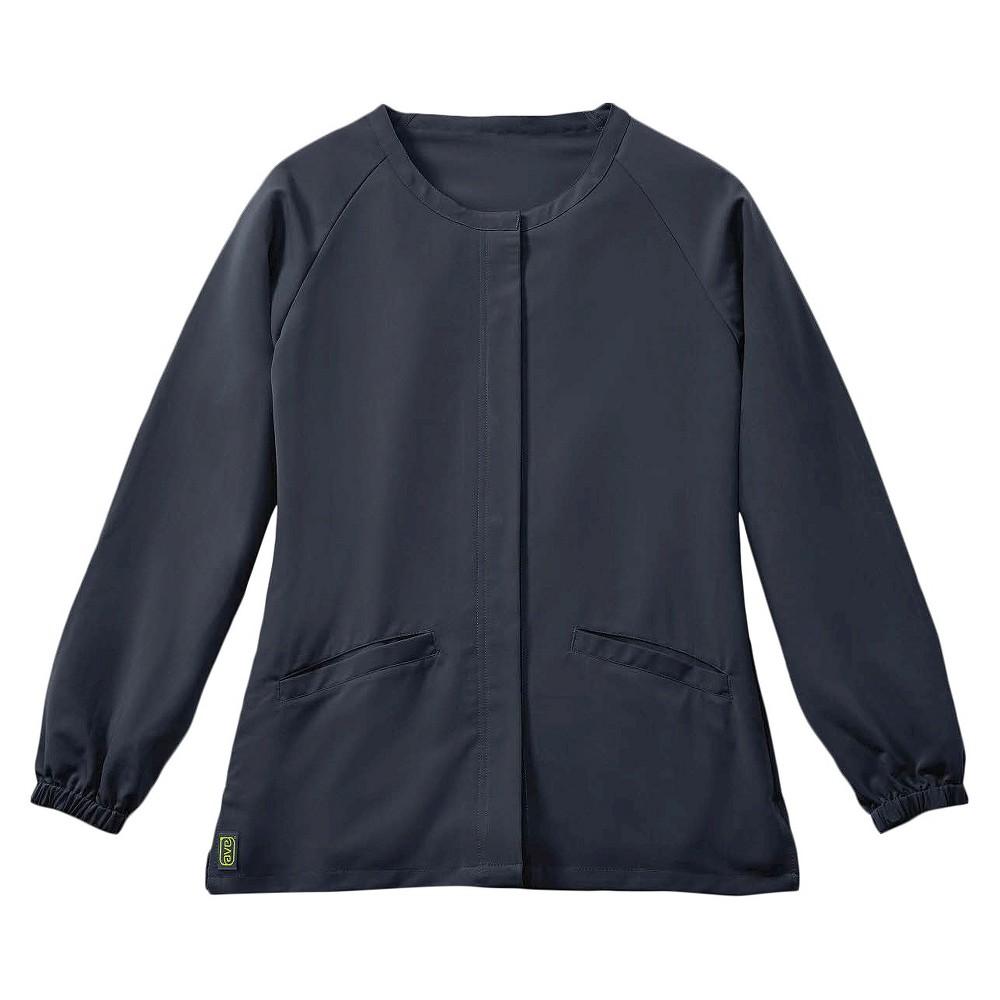 Addison Ave Scrub Jacket Charcoal X-large, Dark Gray
