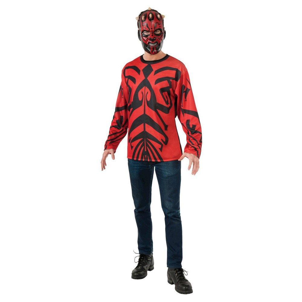 Adult Star Wars Darth Maul Top Mask Halloween Costume M