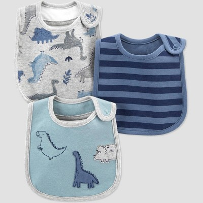 Baby Boys' 3pk Dino Bib - Just One You® made by carter's Gray/Blue