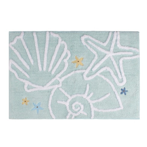 20 X 30 Seaside Blossoms Bath Rugats Aqua Saay Knight Ltd Target