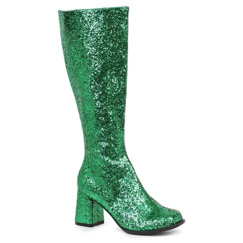 Green Glitter Gogo Costume Boots - image 1 of 1