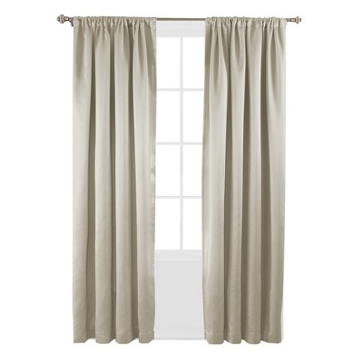 "63""x52"" Tricia Room Darkening Curtain Panel Stone - Eclipse"