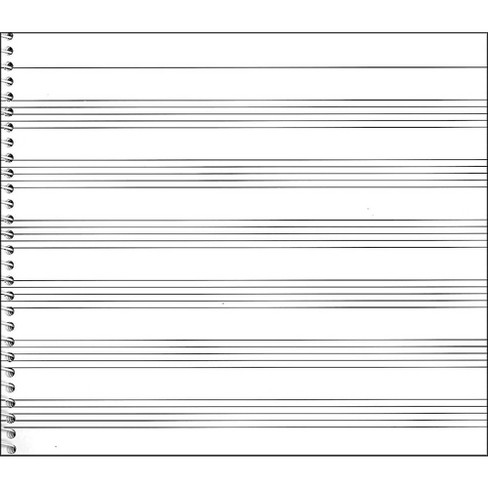Music Sales Passantino Music Papers No.736 Wide Stave, 8X7, 64 Pages, Spiral - image 1 of 1