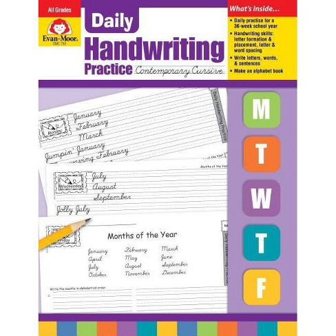 Daily Handwriting Contemporary Cursive - (Daily Handwriting Practice) (Paperback) - image 1 of 1