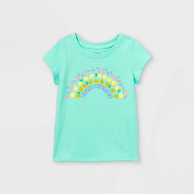 Toddler Girls' Fruit Rainbow Short Sleeve T-Shirt - Cat & Jack™ Teal