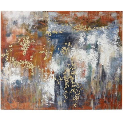Abstract Expression Hand Painted Expressions Stretched Unframed Wall Canvas - StyleCraft