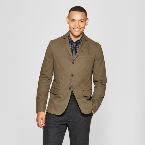 Men's Washed Twill Blazer - Goodfellow & Co™ - image 1 of 3