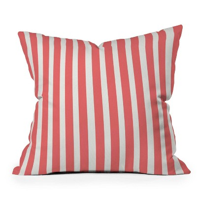 """16""""x16"""" Allyson Johnson Striped Square Throw Pillow Red - Deny Designs"""
