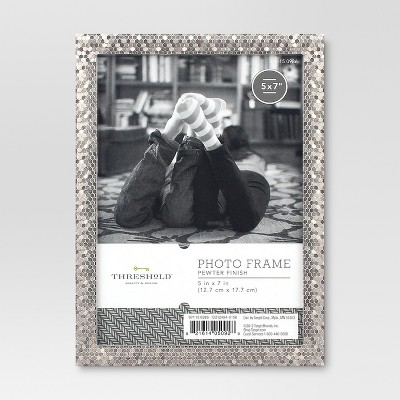 "5"" x 7"" Textured Nickel Frame - Threshold™"