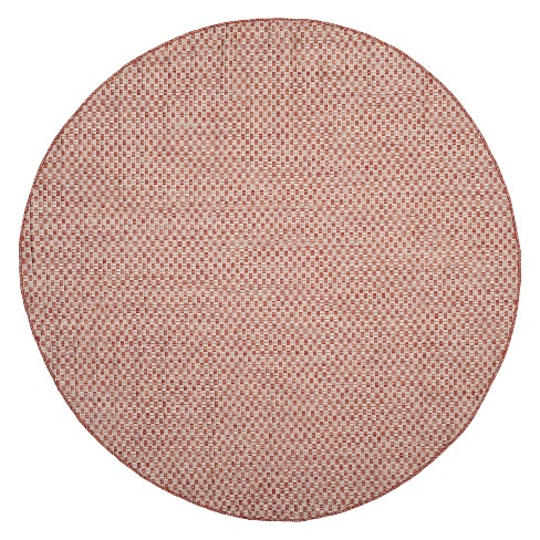 "6'7"" x 6'7"" Tabatha Round Indoor/Outdoor Rug Rust/Light Gray - Safavieh - image 1 of 3"