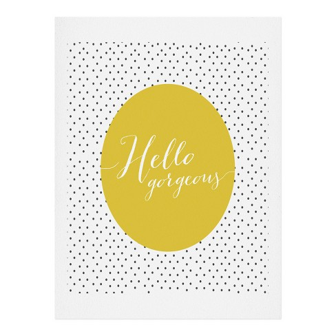 Allyson Johnson Hello Gorgeous Art Print by Deny Designs - image 1 of 1