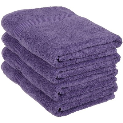 Classic Cotton Absorbent and Quick-Drying 4-Piece Bath Towel Set - Blue Nile Mills
